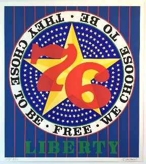 Liberty '76 AP 1974 Limited Edition Print - Robert Indiana