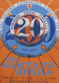 Santa Fe Opera Twentieth Season  Poster 1976 Limited Edition Print by Robert Indiana