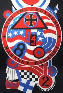 KVF II From Hartley Elegies 1990 Limited Edition Print by Robert Indiana