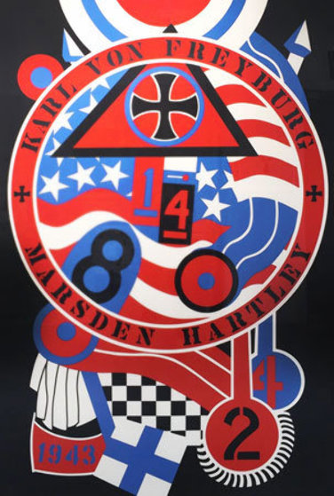 KVF II From Hartley Elegies 1990 Limited Edition Print by Robert Indiana