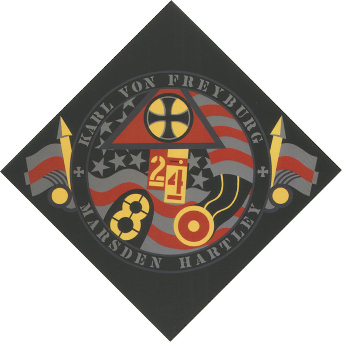 KVF VII From Hartley Elegies 1990 Limited Edition Print by Robert Indiana