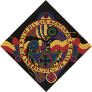 KVF IX From Hartley Elegies 1991 Limited Edition Print by Robert Indiana