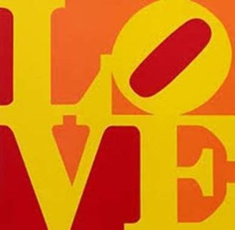 Love - Yellow, Orange,  Red 1996 Limited Edition Print - Robert Indiana