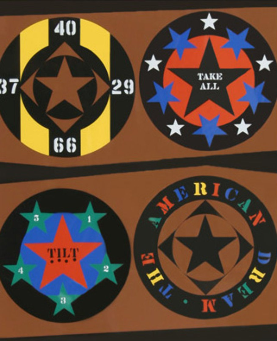 Tilt From the American Dream Portfolio Limited Edition Print by Robert Indiana