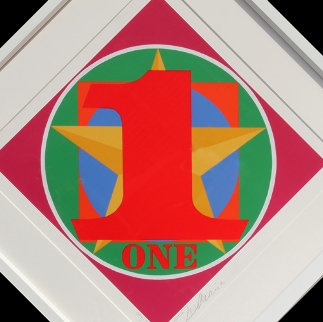 One, From the American Dream Portfolio 1997 Limited Edition Print by Robert Indiana