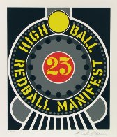 High Ball Red Ball Manifest 25 1996 Limited Edition Print by Robert Indiana - 1