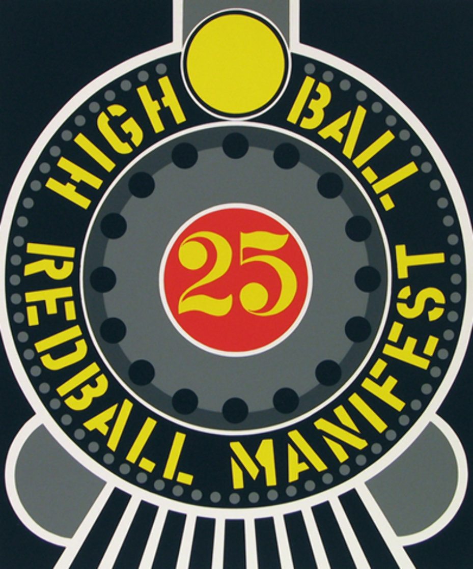 High Ball Red Ball Manifest 25 1996 Limited Edition Print by Robert Indiana