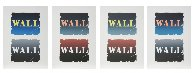 Wall: Two Stone Suite of 4 BAT 1990  Limited Edition Print by Robert Indiana - 1
