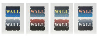 Wall: Two Stone Suite of 4 BAT 1990  Limited Edition Print by Robert Indiana - 0