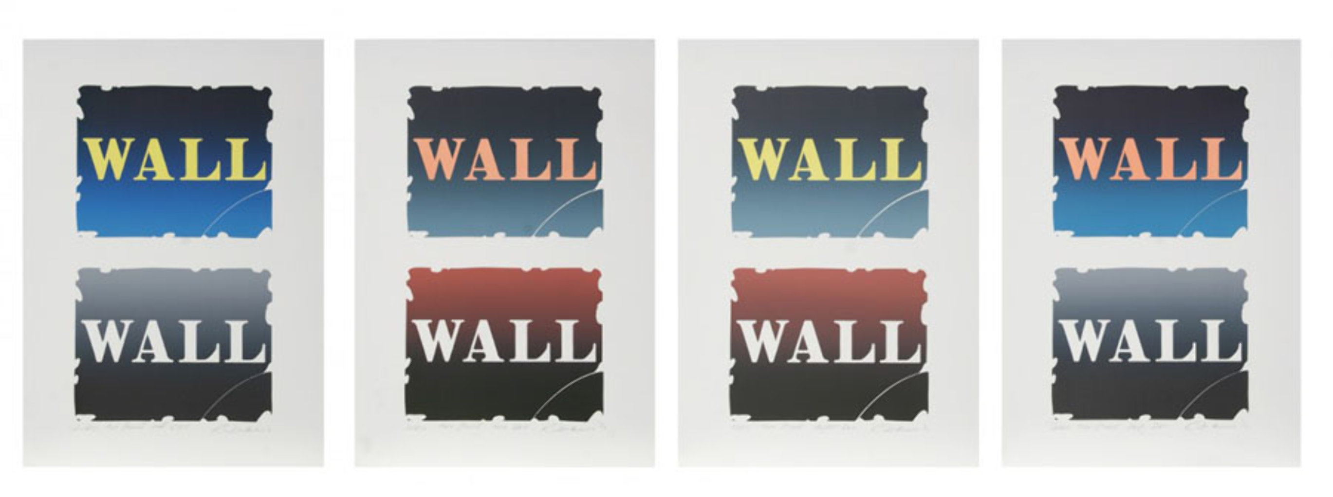 Wall: Two Stone Suite of 4 BAT 1990  Limited Edition Print by Robert Indiana