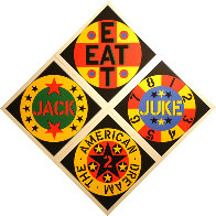 American Dream #2 Set of 4 Screenprints 1982 Limited Edition Print by Robert Indiana - 1