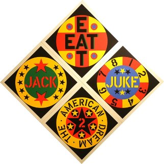 American Dream #2 Set of 4 Screenprints 1982 Limited Edition Print - Robert Indiana