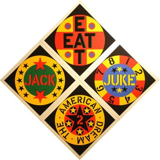 American Dream #2 Set of 4 Screenprints 1982 Limited Edition Print by Robert Indiana