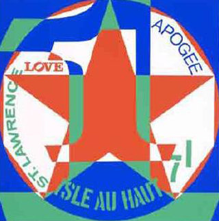 Decade: Autoportraits From Vinalhaven Suite, #1 Limited Edition Print - Robert Indiana