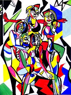 Cubic Friends 2020 40x30 Super Huge Original Painting - Acar Ipek