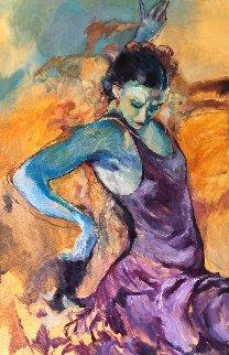 Spanish Dancer 36x24 Original Painting - Rachel Isadora