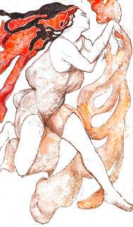 After Bakst II 60x36 Super Huge Original Painting - Rachel Isadora