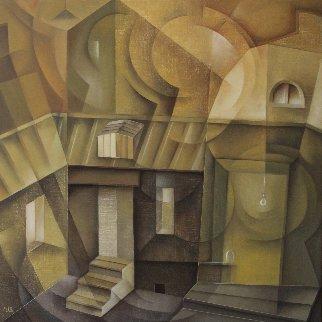 Old House 2018 25x25 Original Painting - Eugene Ivanov