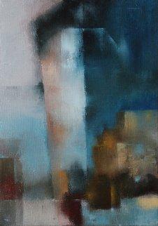 Big Ship 2018 19x14 Original Painting - Eugene Ivanov