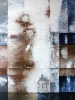 Musician 2017 31x23 Original Painting - Eugene Ivanov