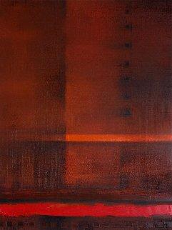 Red River 2017 31x23 Original Painting - Eugene Ivanov
