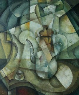 Still Life With Coffee Pot 2018 23x19 Original Painting by Eugene Ivanov