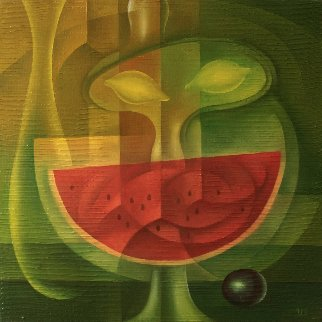 Still Life With Melon 2018 19x19 Original Painting - Eugene Ivanov