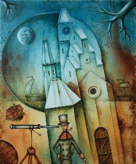 Castle on the Coast  2018 23x19 Original Painting by Eugene Ivanov