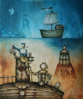 Le Phare Du Bout Du Monde 2018 24x20 Original Painting - Eugene Ivanov