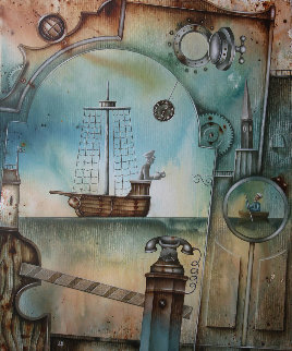 Sea Gates 2018 26x19 Original Painting by Eugene Ivanov