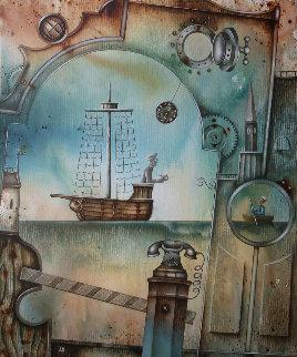 Sea Gates 2018 26x19 Original Painting - Eugene Ivanov