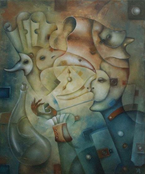 Masquerade No. 3 2018 23x19 Original Painting by Eugene Ivanov