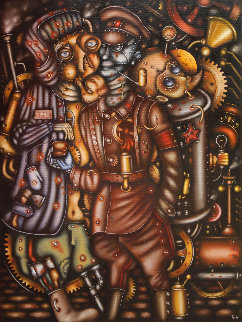Underworld Kingdom 2014 31x23 Original Painting - Eugene Ivanov
