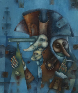 Masquerade No. 4. Nothern Wind 2018 27x20 Original Painting by Eugene Ivanov