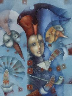 Masquerade No. 5. 2018 21x33 Original Painting - Eugene Ivanov