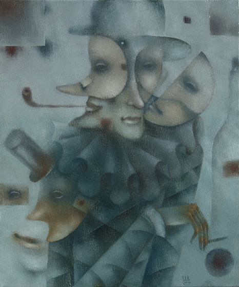 Masquerade No. 7 2019 23x19 Original Painting by Eugene Ivanov