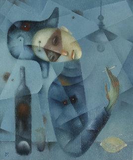 Blue Harlequin 2019 24x20 Original Painting by Eugene Ivanov
