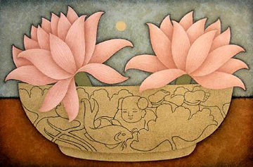 Chinese Bowl 1988 Limited Edition Print by Carol Jablonsky