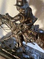 Marshall III Bronze Sculpture 1979 12 in Sculpture by Harry Andrew Jackson - 4