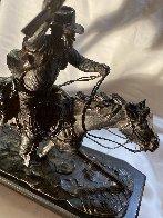 Marshall III Bronze Sculpture 1979 12 in Sculpture by Harry Andrew Jackson - 5