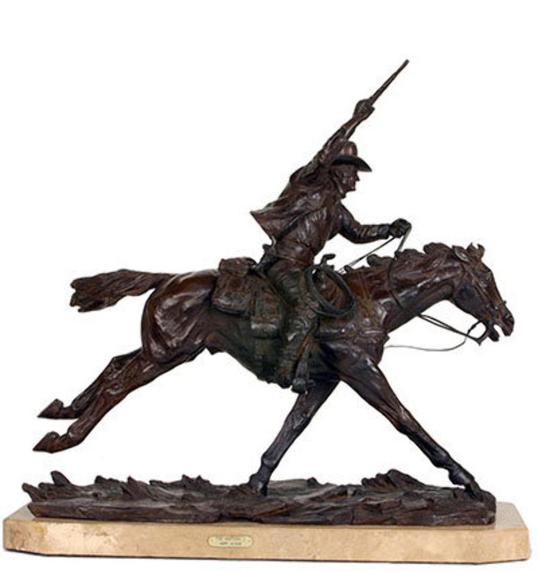 Marshall III Bronze Sculpture 1979 12 in Sculpture by Harry Andrew Jackson