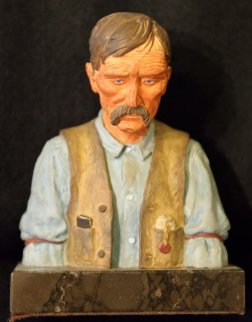 Old Timer Bronze Sculpture 1970 Sculpture - Harry Andrew Jackson