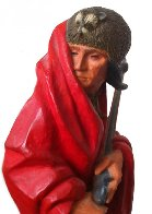 Iroquois Guide II Polychrome Sculpture 1980 Sculpture by Harry Andrew Jackson - 1