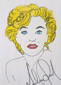 Marilyn Drawing 2002 16x12 Drawing - Michael Jackson