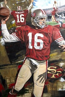 Joe Montana Joe Cool 2016 25x35 Original Painting - Joshua Jacobs