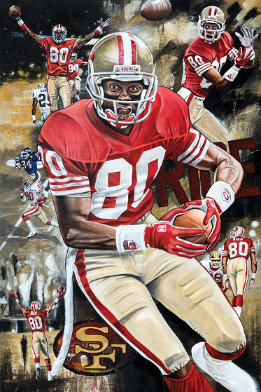 Jerry Rice Golden Rice 2016 25x35 Original Painting by Joshua Jacobs