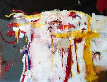 Partitura Para Arvo Pàrt 2019 31x39 Original Painting - Jos Diazdel