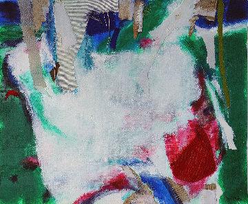 Corriente De Aire 2020 15x18 Original Painting - Jos Diazdel