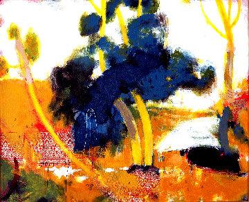 El Viento En Las Ramas 2020 15x18 Original Painting - Jos Diazdel