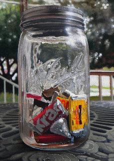 Ball Jar Booty 2018 22x18 Original Painting - Frank Jakum